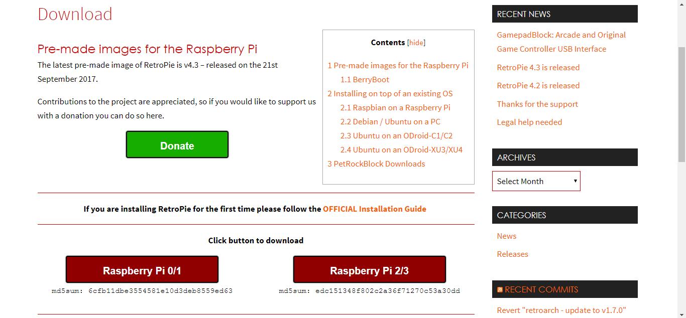 Retropie Download Page