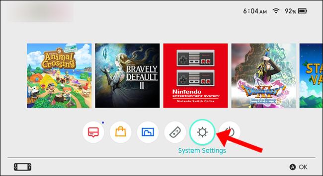 Ustawienia systemu Nintendo Switch