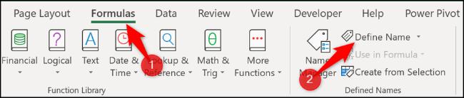 Utwórz zdefiniowaną nazwę w programie Excel
