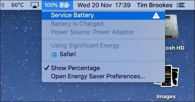 Ostrzeżenie serwisowe dotyczące baterii w MacBooku Pro