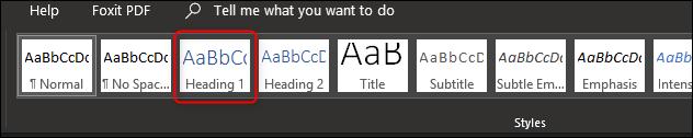 Wybierz styl nagłówka