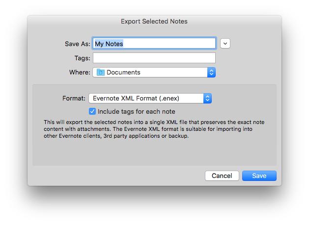 Export-Evernote-Notizen