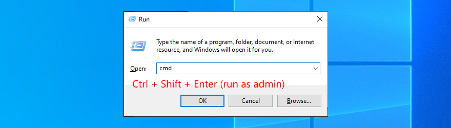 Windows 10 shows how to run Command Prompt as admin