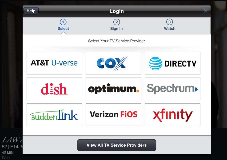 Cable Provider Log In